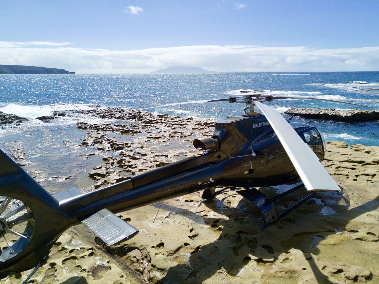 EC130-helicopter-on-remote-Kawau-Island