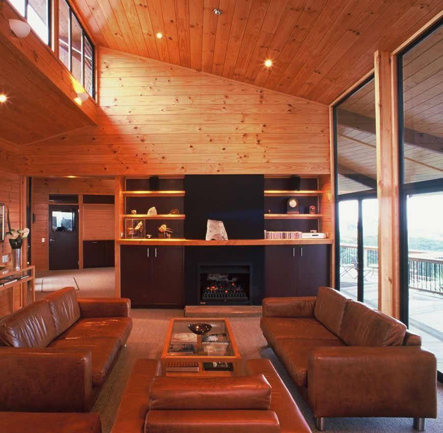 Te Whau lodge interior