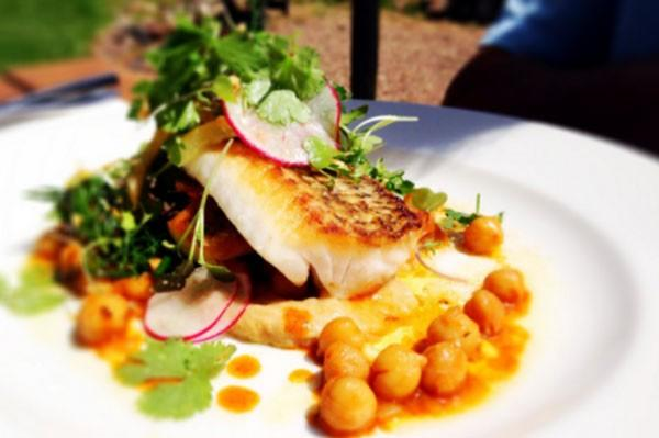 Fish and chickpeas