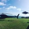 Helicopter on Rakino Island
