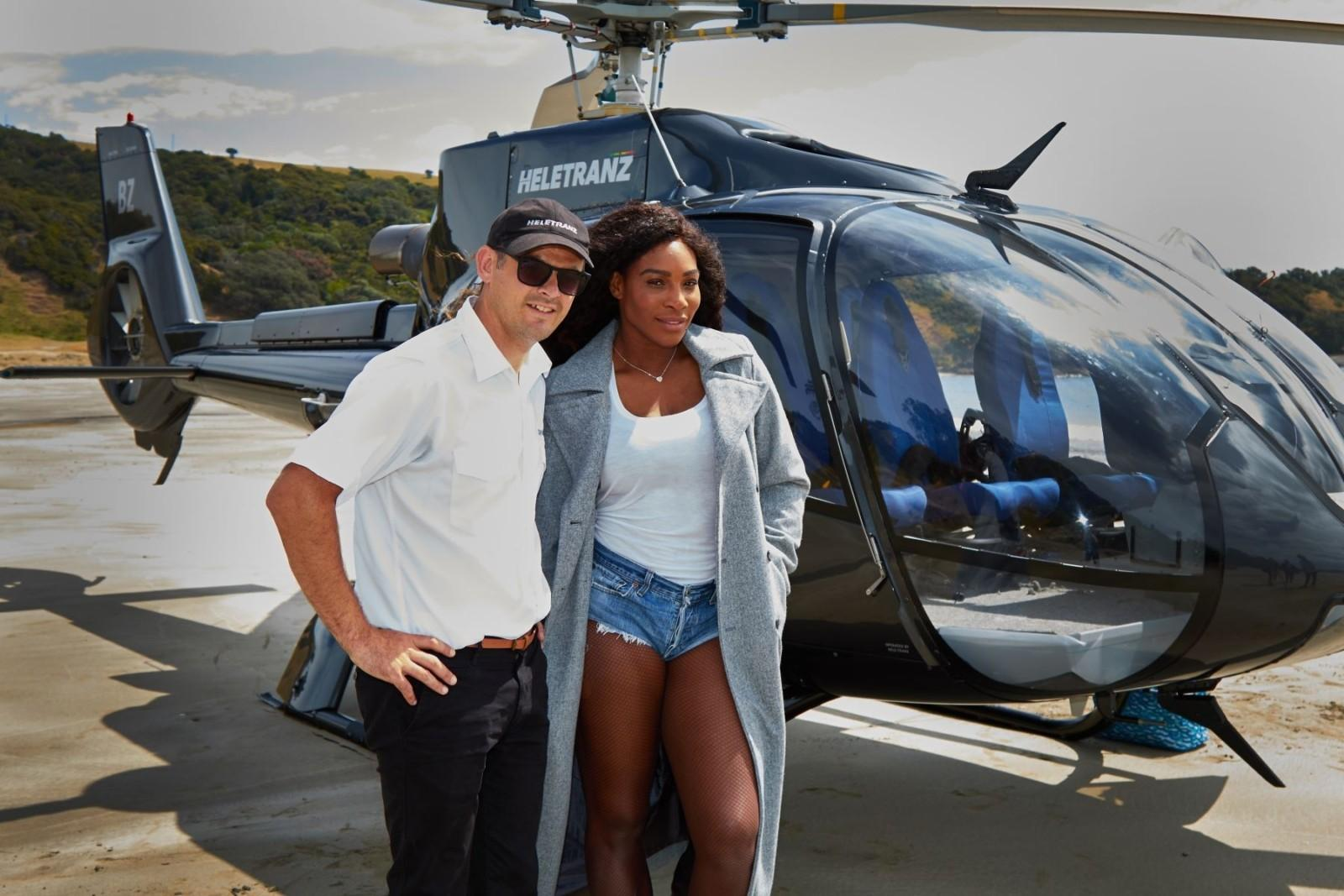 Serena Williams enjoys Auckland from above with Heletranz