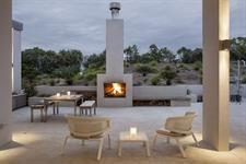Outdoor fireplace at Marino Ridge