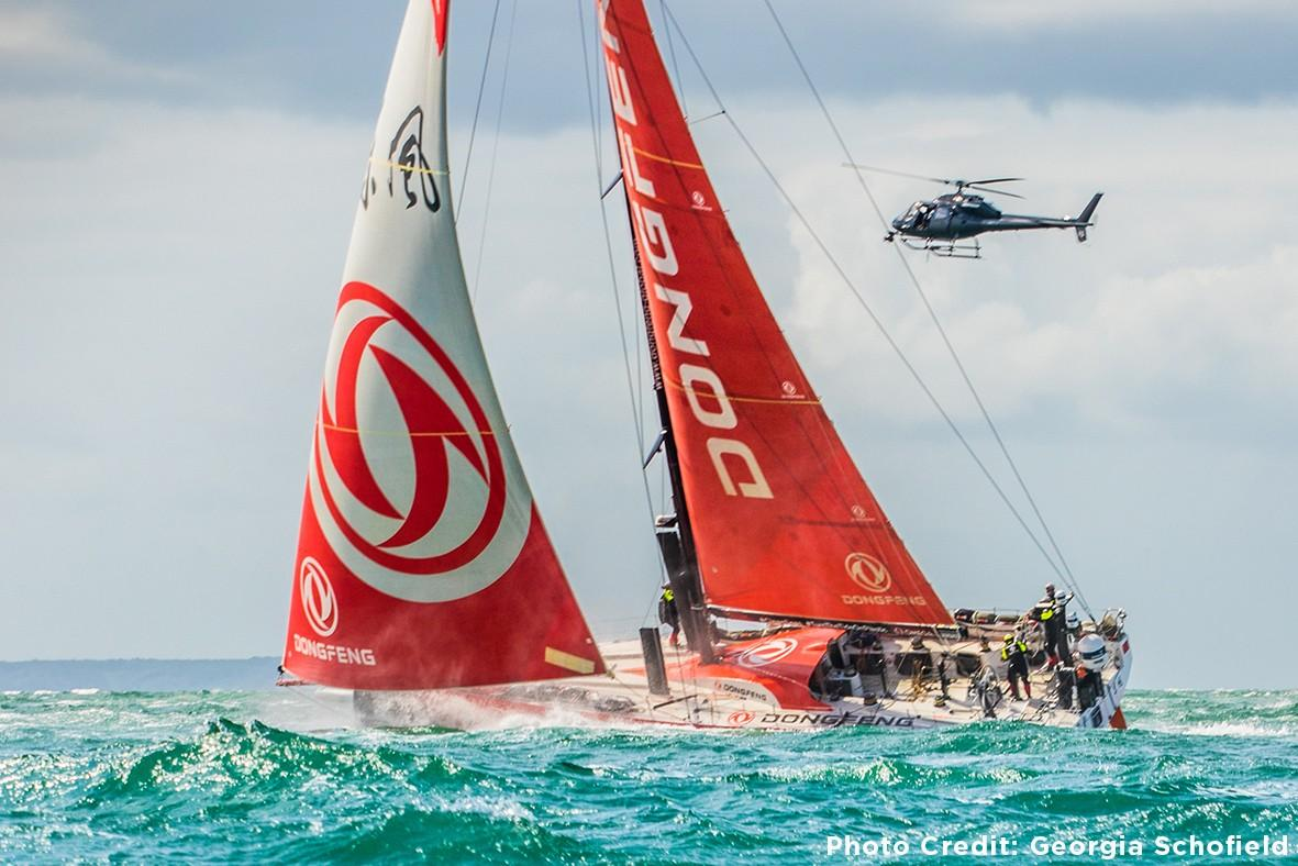 Heletranz Helicopters Films The Volvo Ocean Race Stopover in Auckland