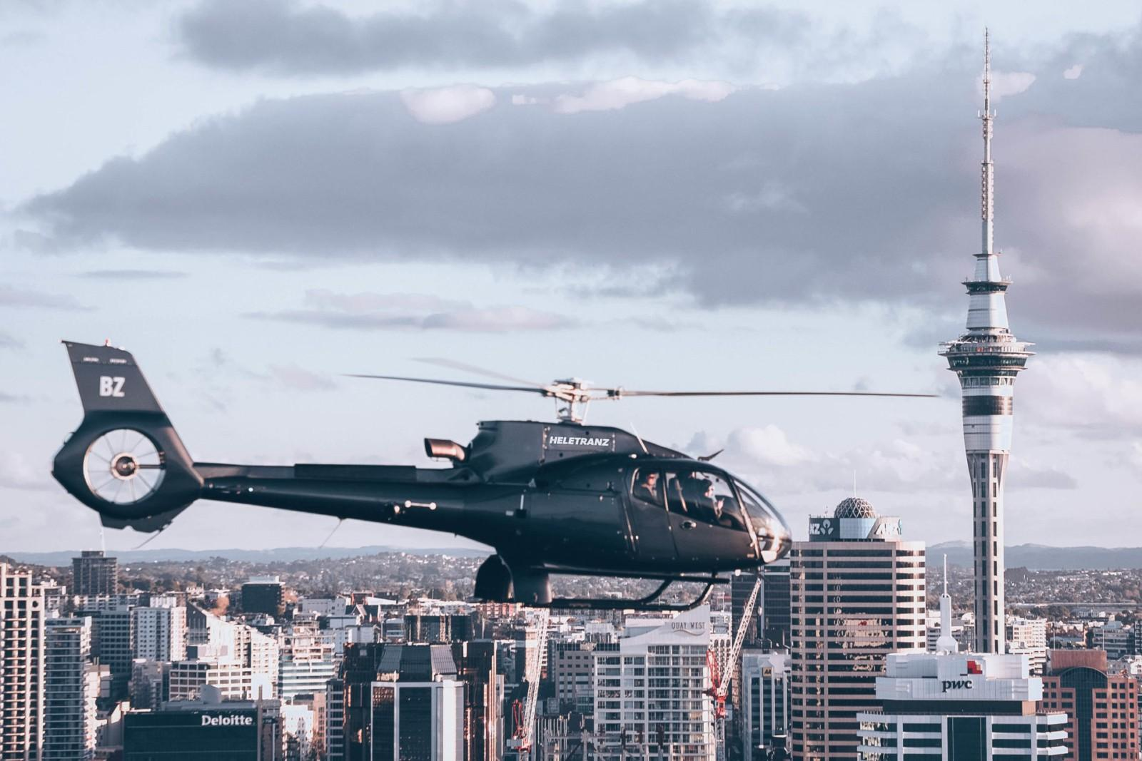 Auckland Sky Tower Helicopter Flight