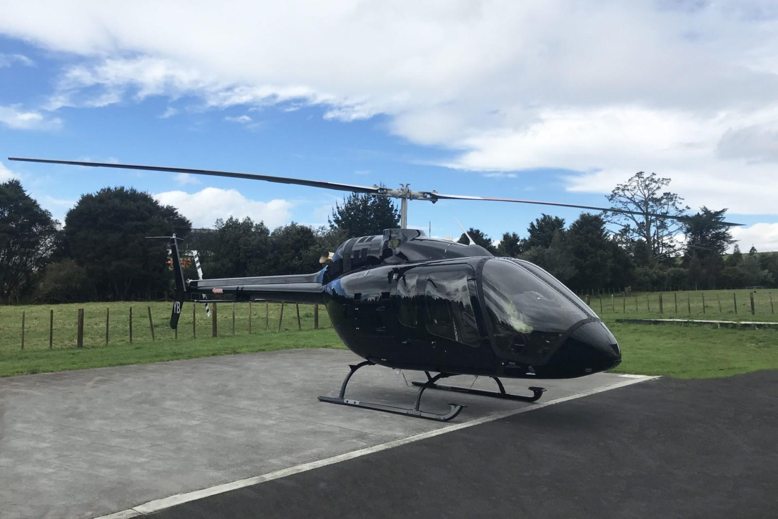 Helicopter at the Helipad