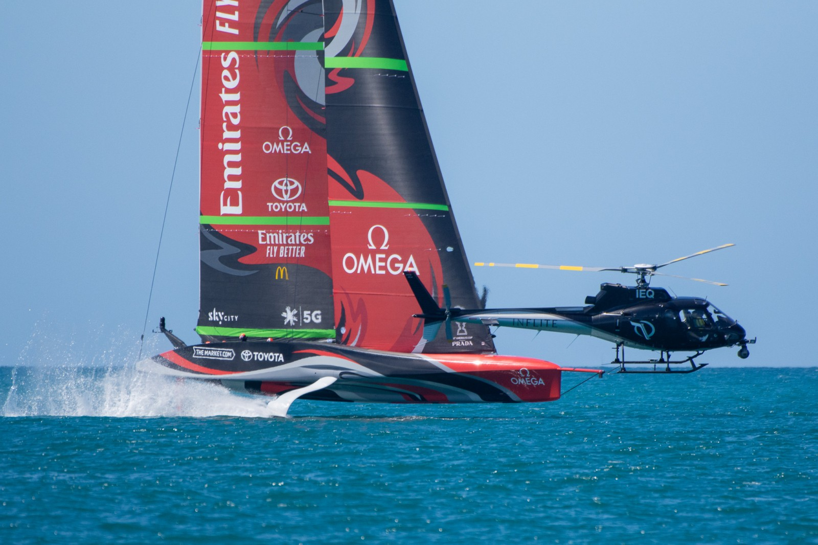 Filming of the 36th Americas cup